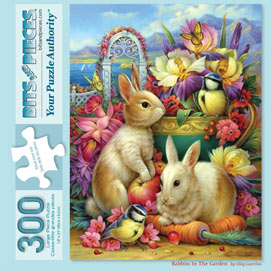 Rabbits In The Garden 300 Large Piece Jigsaw Puzzle