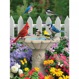 Summer Garden Friends 300 Large Piece Jigsaw Puzzle