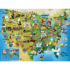 U.S. History Map 300 Large Piece Jigsaw Puzzle