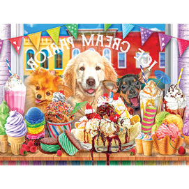 Ice Cream Parlour Pups 300 Large Piece Jigsaw Puzzle