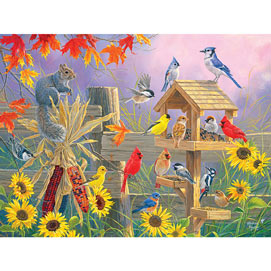 Autumn Gathering 300 Large Piece Jigsaw Puzzle