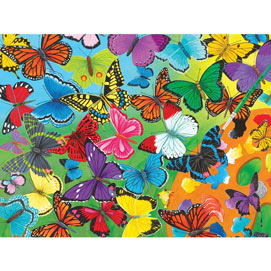 Butterfly Palette 300 Large Piece Jigsaw Puzzle