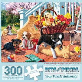 Hidden Image Puppy Mischief 300 Large Piece Jigsaw Puzzle