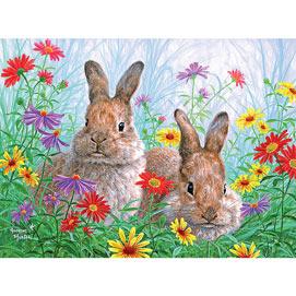 Summertime Bunnies 300 Large Piece Jigsaw Puzzle