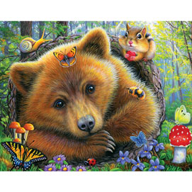 Little Bears Morning 200 Large Piece Jigsaw Puzzle