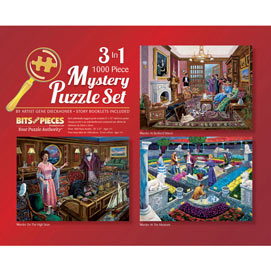Murder Mystery 3-in-1 Multi-Pack 1000 Piece Puzzle Set