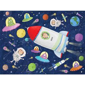 Space Ship Adventure 100 Large Piece Jigsaw Puzzle