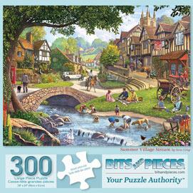 Summer Village Stream 300 Large Piece Jigsaw Puzzle