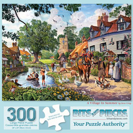 A Village In The Summer 300 Large Piece Jigsaw Puzzle