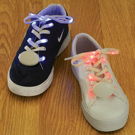 Red Light-Up LED Shoe Laces