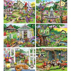 Set of 6: Nancy Wernersbach 1000 Piece Jigsaw Puzzles