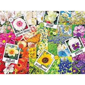 Rainbow Flowers 300 Large Piece Jigsaw Puzzle