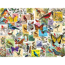 Stamp Collector Birds & Butterflies 500 Piece Jigsaw Puzzle