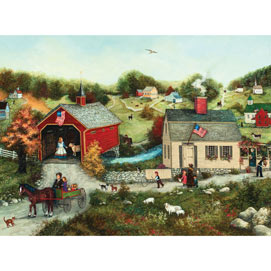 Cutter's Covered Bridge 500 Piece Jigsaw Puzzle