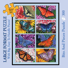 Butterflies and Blooms 300 Large Piece Jigsaw Puzzle