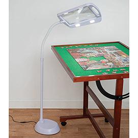 Jigsaw LED Magnifier Floor Lamp