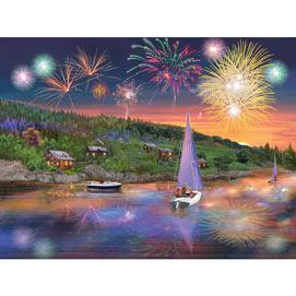 Sailboat Fireworks 300 Large Piece Jigsaw Puzzle