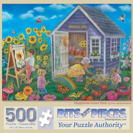 Happiness Grows Here 500 Piece Jigsaw Puzzle