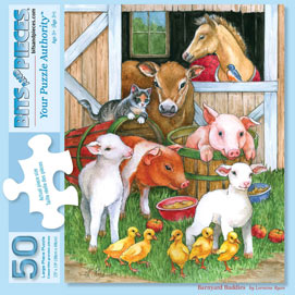 Barnyard Buddies 50 Large Piece jigsaw Puzzle