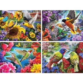 Set of 4: Larry Jones 300 Large Piece Jigsaw Puzzles