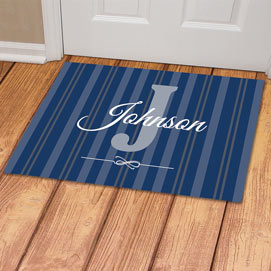 Personalized Family Initial Doormat