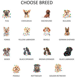 Personalized Dog Breed Glass Ornaments