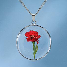 Birth Flower Necklace - January (Dahlia)