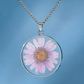 Birth Flower Necklace - September (Zinnia)