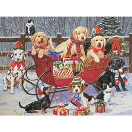 Santa's Helpers 300 Large Piece Jigsaw Puzzle