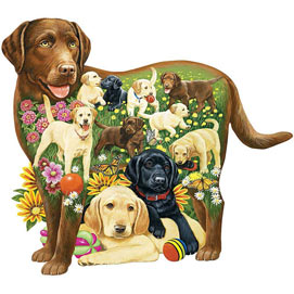 Lovable Labs 750 Piece Shaped Jigsaw Puzzle