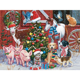 Festive Farm Friends 500 Piece Jigsaw Puzzle