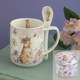 Bunny Mug With Spoon Set