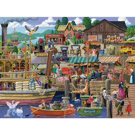 Port Side Market 1000 Piece Jigsaw Puzzle