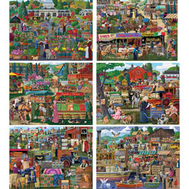 Set of 6: Joseph Burgess 1000 Piece Jigsaw Puzzles