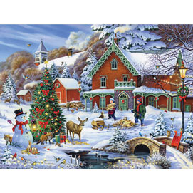 Forest Christmas Feast 300 Large Piece Jigsaw Puzzle