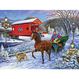 Christmas Tree Delivery 300 Large Piece Jigsaw Puzzle