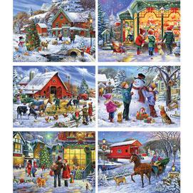 Set of 6: Oleg Gavrilov 300 Large Piece Jigsaw Puzzles
