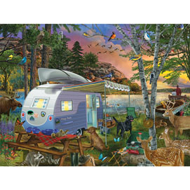 Camp Site Watch Dogs 500 Piece Jigsaw Puzzle
