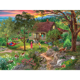Vacation Mountain 500 Piece Jigsaw Puzzle