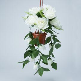 White Cascading Roses