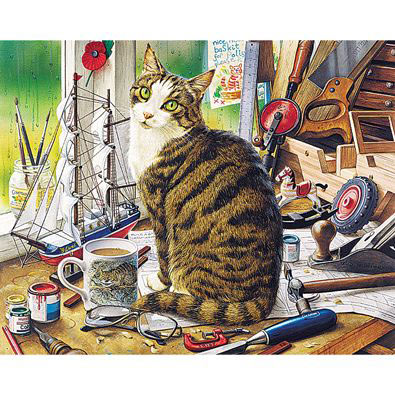 Nelson Window Cat 300 Large Piece Jigsaw Puzzle