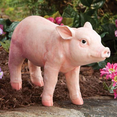 This Little Piggy Motion Sensor Pig Garden Sculpture