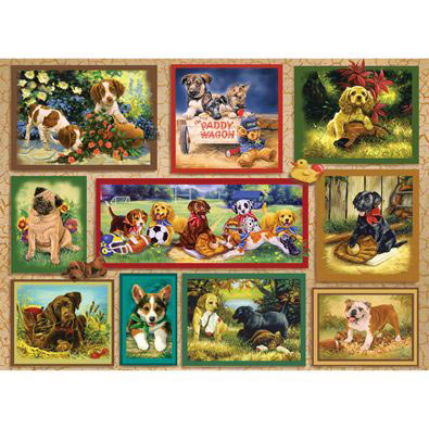 The Puppy Card 500 Piece Jigsaw Puzzle