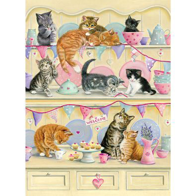 Kitties On A Dresser 500 Piece Jigsaw Puzzle