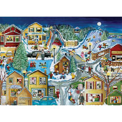Winter Holidays Begin In Judleville 500 Piece Jigsaw Puzzle