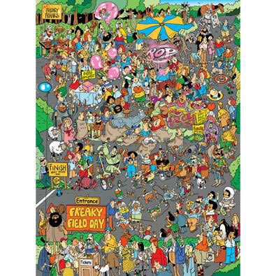 Freaky Field Day 1000 Piece Jigsaw Puzzle