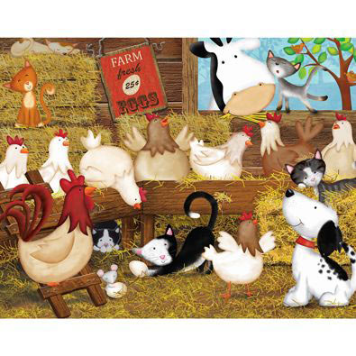 Hen House 200 Large Piece Jigsaw Puzzle