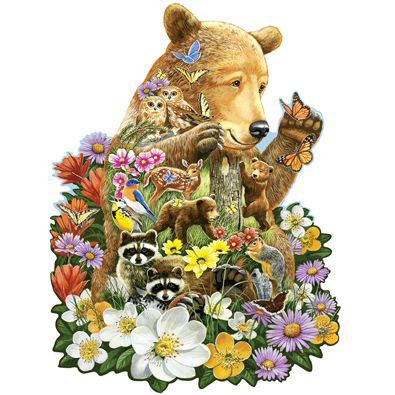 Grizzly Cub 300 Large Piece Shaped Jigsaw Puzzle