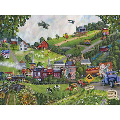 Small Town USA 300 Large Piece Jigsaw Puzzle