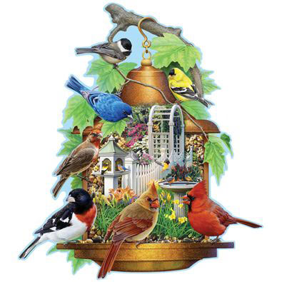 Song Bird Feeder 750 Piece Jigsaw Puzzle